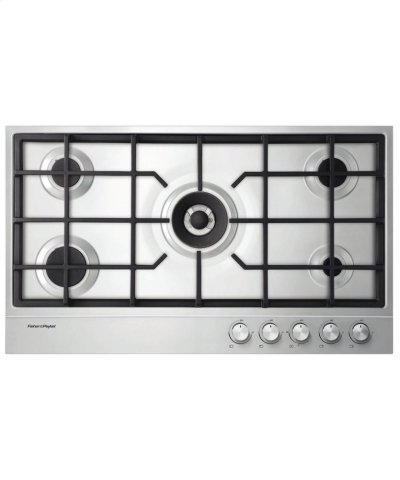 """NG Gas on Steel Cooktop 36"""" 5 Burner Product Image"""