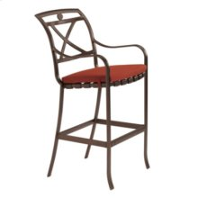 Palladian Strap Bar Stool with Seat Pad - X-Back
