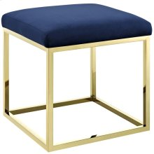 Anticipate Ottoman in Gold Navy