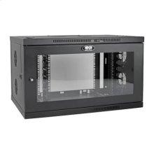 SmartRack 9U Low-Profile Switch-Depth-Plus Wall-Mount Rack Enclosure Cabinet, Wide, Acrylic Window
