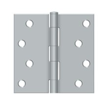 "4""x 4"" Square Hinge - Brushed Chrome"