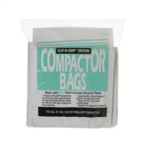 "Ge Appliances15"" Heavy Duty Compactor Bags (12)"
