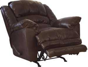 Chaise Rocker Recliner - Oversized X-tra Comfort Footrest - Timber