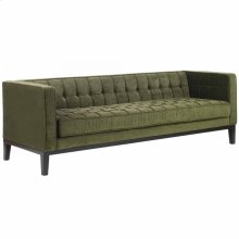 Roxbury Sofa In Tufted Green Fabric