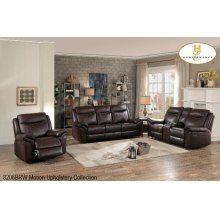 Double Glider Reclining Loveseat with Console