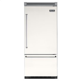 "Cotton White 36"" Quiet Cool™ Bottom-Mount Refrigerator/Freezer - VIBB Tru-Flush™ (Right Hinge Door)"
