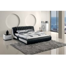Modrest Modern Black Tufted Leatherette bed