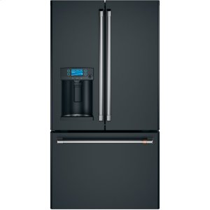 Caf(eback) ENERGY STAR (R) 27.8 Cu. Ft. French-Door Refrigerator with Hot Water Dispenser - MATTE BLACK