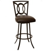 "Drake 30"" Transitional Barstool In Coffee and Auburn Bay"