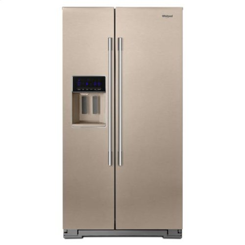 Whirlpool® 36-inch Wide Contemporary Handle Counter Depth Side-by-Side Refrigerator - 21 cu. ft. - Sunset Bronze