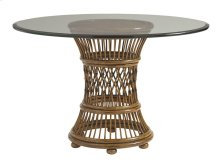 Aruba Dining Table With 48 Inch Glass Top 36 Inch