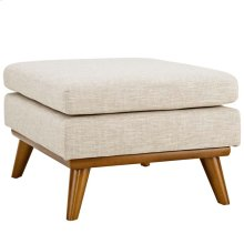 Engage Upholstered Fabric Ottoman in Beige