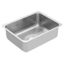 """1800 Series 18""""x23"""" stainless steel 18 gauge single bowl sink"""