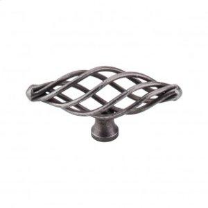 Oval Medium Twist Knob 3 Inch - Pewter