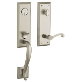 Satin Nickel with Lifetime Finish Stonegate Handleset