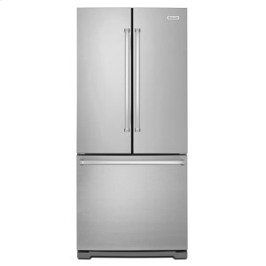 KitchenAid20 cu. Ft. 30-Inch Width Standard Depth French Door Refrigerator with Interior Dispense - Stainless Steel