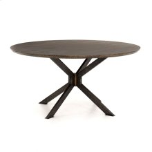 English Brown Oak Finish Spider Round Dining Table