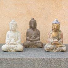 "Limestone Sitting Buddha 12"" / Dark Limestone"
