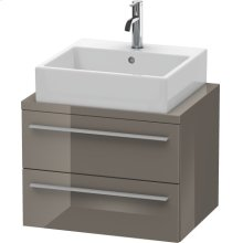 X-large Vanity Unit For Console Compact, Flannel Gray High Gloss Lacquer