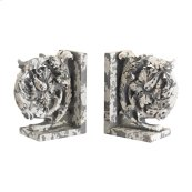 Aged Plaster Scroll Bookends