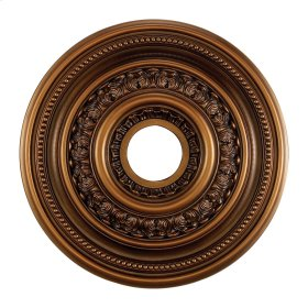 English Study Medallion 18 Inch in Antique Finish