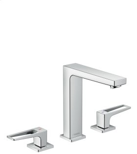 Chrome Metropol 160 Widespread Faucet with Loop Handles without Pop-Up, 1.2 GPM
