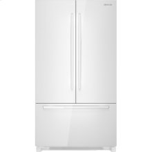 "Cabinet Depth French Door Refrigerator with Internal Dispenser, 72""(h), Floating Glass White"