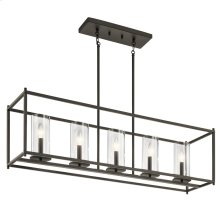 Crosby Collection Crosby 5 Light Linear Chandelier OZ