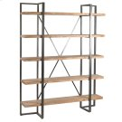 Preston Rustic Metal and Wood Tall Etagere Product Image