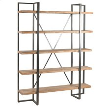 Preston Rustic Metal and Wood Tall Etagere