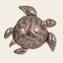 Large Metal Sea Turtle Wall Hanging