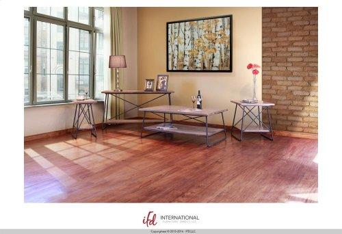 Chair Side Table w/1 Wooden Shelf