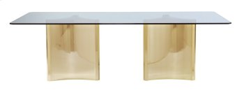 Abbot Metal Dining Table with Glass Top Product Image