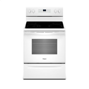 WhirlpoolWhirlpool® 5.3 cu. ft. Freestanding Electric Range with Adjustable Self-Cleaning - White