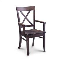 Maxwell Arm Chair, Wood Seat