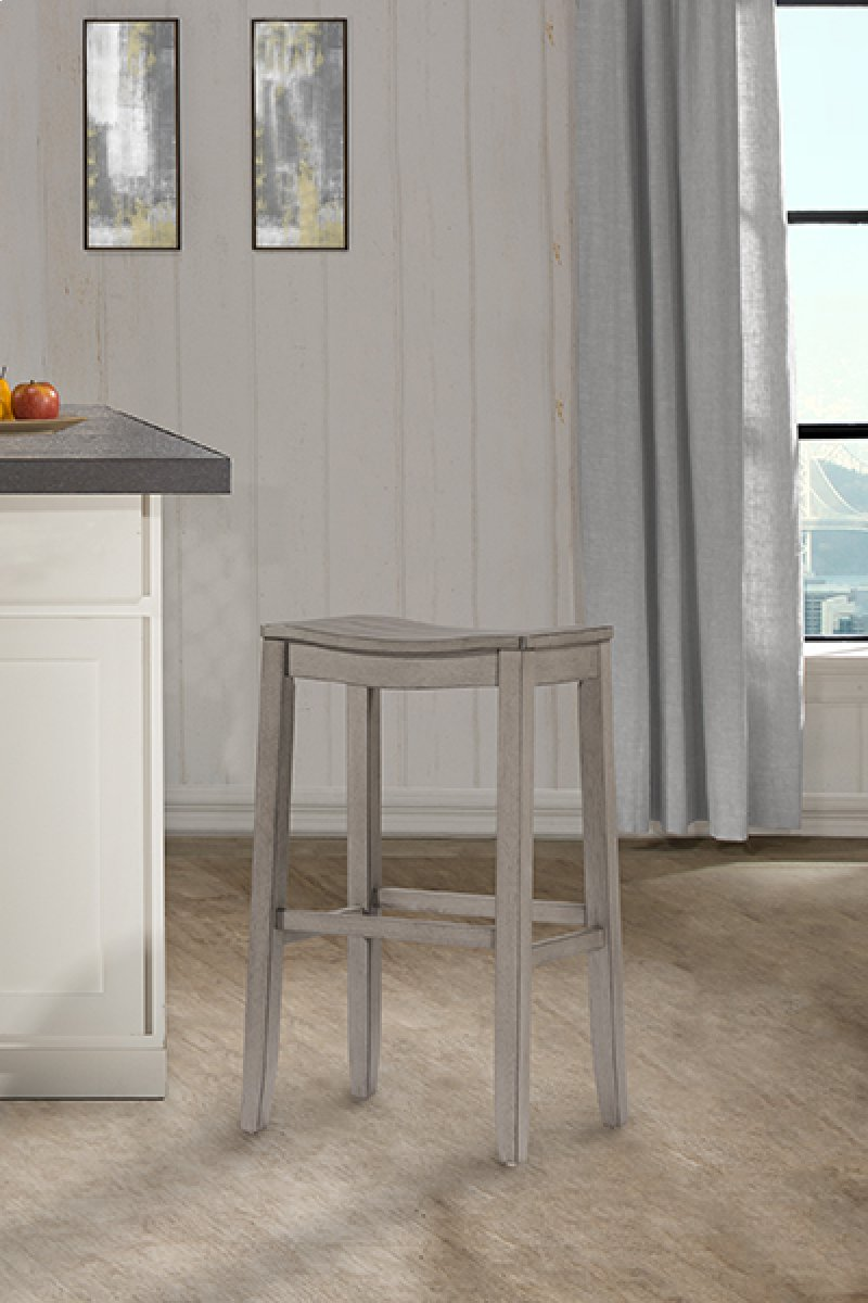 Fiddler non swivel backless counter stool aged gray