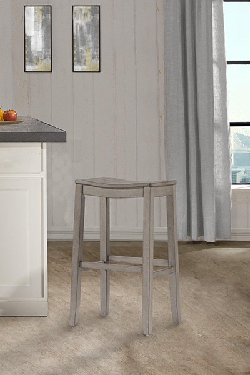 Fiddler non swivel backless counter stool aged gray