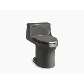 Thunder Grey Comfort Height One Piece Compact Elongated 1 28 Gpf Touchless Toilet With Aquapiston Flushing