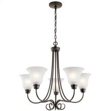 Bixler 5 Light Chandelier with LED Bulbs Olde Bronze®