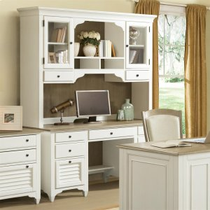 RiversideMyra - Credenza Hutch - Natural/paperwhite Finish