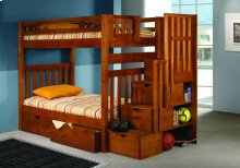 Twin/Twin Tall Mission Stairway Bunkbed