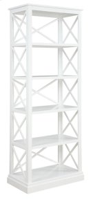 - Bookcase finished in antique white- Constructed with poplar, MDF, and ash veneer- Features five tiers of shelving- Pair with matching writing desk (#801381) Product Image