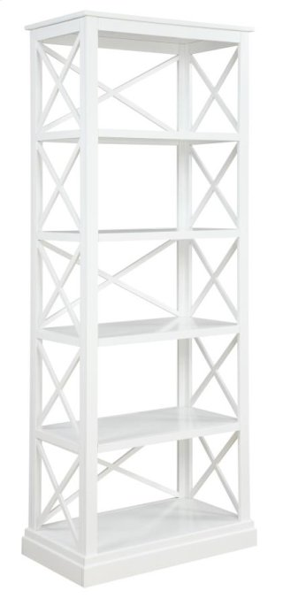 Bookcase finished in antique white
