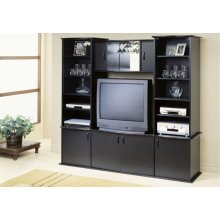 TV STAND - BLACK WALL UNIT