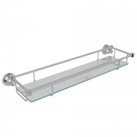 Polished Chrome Perrin & Rowe Holborn Wall Mount Glass Vanity Shelf
