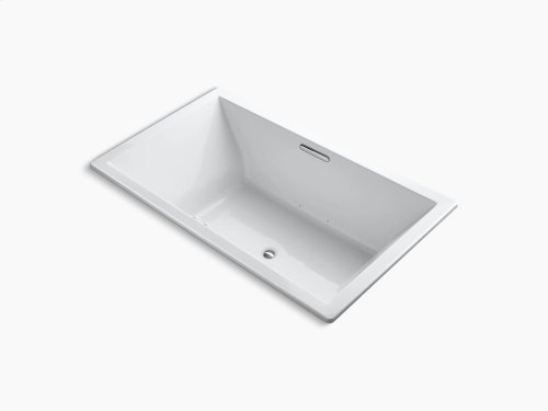"""White 72"""" X 42"""" Drop-in Bubblemassage Air Bath With Bask Heated Surface and Center Drain"""