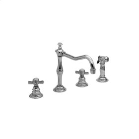 Aged Brass Kitchen Faucet with Side Spray