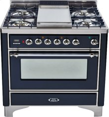 Gloss Black with Chrome trim - Majestic 36-inch Range with 6-Burner