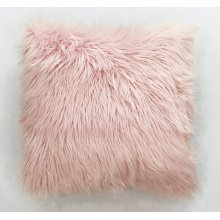 Fox faux fur pillow - Pink Rug