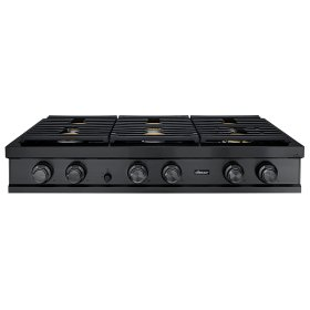 """48"""" Rangetop, Graphite Stainless Steel,Natural Gas/High Altitude"""